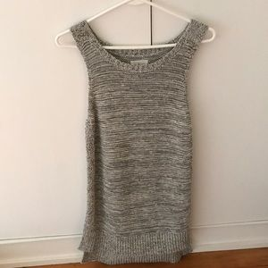 Lou and grey sweater tank marled grey size small
